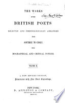The Works Of The British Poets book
