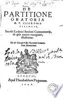 De partitione Oratoria M  T  Ciceronis Dialogvs
