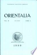 Orientalia  Vol  49