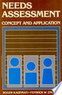 Needs Assessment: Concept and Application