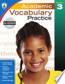 Academic Vocabulary Practice  Grade 3