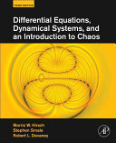 Differential Equations  Dynamical Systems  and an Introduction to Chaos And An Introduction To Chaos