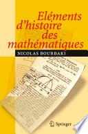 illustration Eléments d'histoire des mathématiques