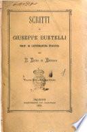 Scritti di Giuseppe Bustelli