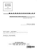 Study Guide to Accompany Macroeconomics