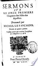 Sermons sur les onze premiers chapitres des Actes des Apostres