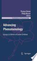 Advancing Phenomenology