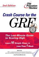 Crash Course for the GRE
