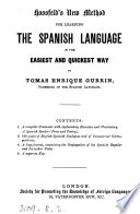 Hossfeld s new method for learning the Spanish language   With  Key