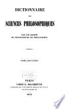 Dictionnaire des sciences philosophiques
