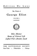 Silas Marner  Scenes of clerical life  Lifted veil  Brother Jacob