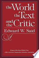 The World The Text And The Critic
