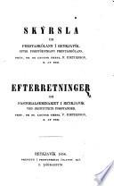 Efterretninger om pastoralseminariet i Reykjavík ved institutets forstander P. Pjetursson