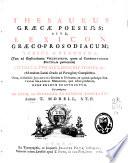 Thesaurus Graecae poeseōs