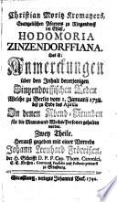 Hodomoria Zinzendorffiana
