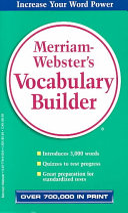 Merriam-Webster's Vocabulary Builder Book
