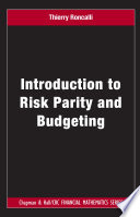 Introduction to Risk Parity and Budgeting