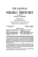The Journal of Negro History Of The Study Of Afro American Life And