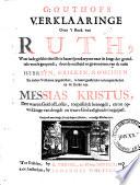 G. Outhofs Verklaaringe over 't boek van Ruth