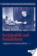 Franz Hitze (1851-1921), Sozialpolitik und Sozialreform