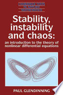 Stability  Instability and Chaos
