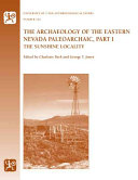 The Archaeology of the Eastern Nevada Paleoarchaic