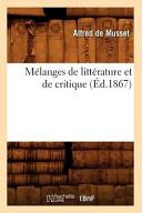 Mélanges de littérature et de critique
