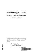 Deskbook Encyclopedia of Public Employment Law