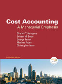 Cost Accounting  A Managerial Emphasis  13 e