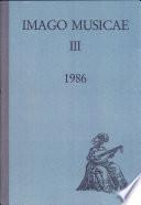 Imago Musicae Iii  1986