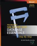 Microsoft   SQL ServerTM 2005  Database Essentials Step by Step