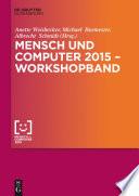 Mensch und Computer 2015 – Workshopband