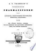Vereinigte Pharmacopoeen der Londoner, Edinburgher und Dubliner Medicinal-Collegien