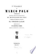I viaggi di Marco Polo Veneziano