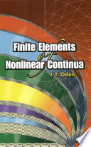 Finite Elements Of Nonlinear Continua