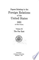Papers Relating to the Foreign Relations of the United States Book PDF
