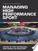 illustration du livre Managing High Performance Sport