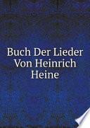 Buch Der Lieder Von Heinrich Heine