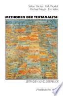 Methoden der Textanalyse