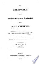 An Introduction To The Critical Study And Knowledge Of The Holy Scriptures book