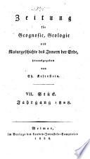Zeitung für geognosie, geologie und innere naturgeschichte der erde