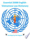 Essential 25000 English-Vietnamese Law Dictionary