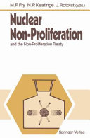 Nuclear Non proliferation and the Non proliferation Treaty