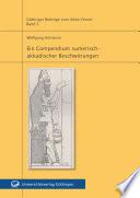 Ein Compendium sumerisch-akkadischer Beschwörungen