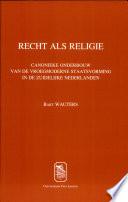 Recht als religie