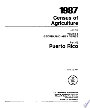 1987 Census of Agriculture: Geographic area series