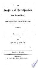 Die Poesie und Beredsamkeit der Deutschen, von Luthers Zeit bis zur Gegenwart