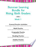Summer Learning Bundle for Rising Sixth Graders   Week 1