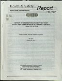 Review of Chlorine Illnesses when Used in and Around Swimming Pools in California from 1995 to 1999