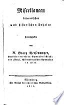 Miscellaneen litterarischen und historischen Inhalts
